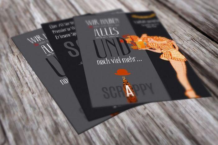Flyer für Scrappy Pub