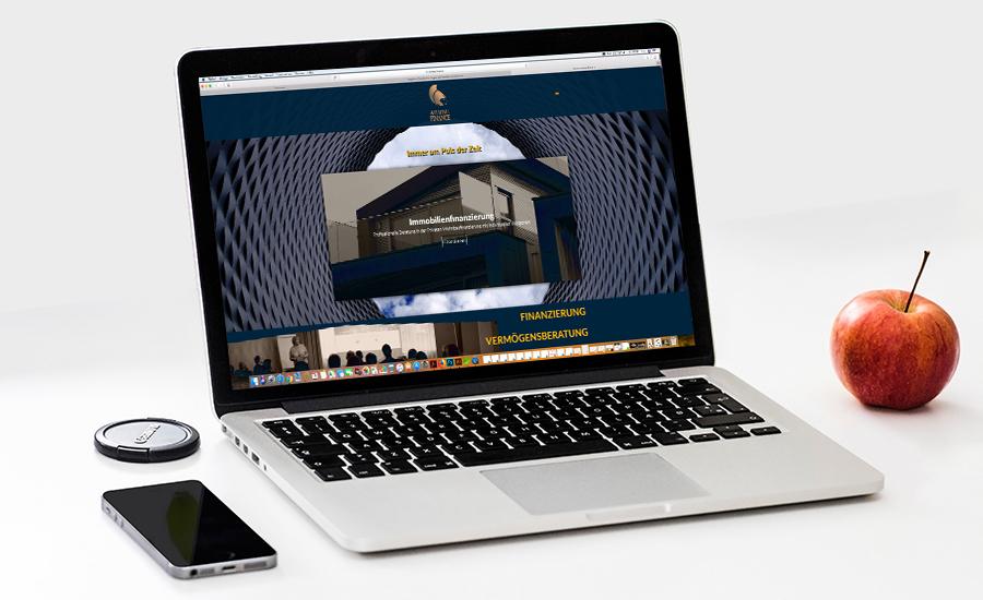 Athene Finance - Webdesign Referenz