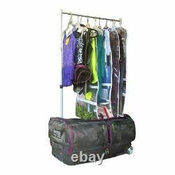 wheeled dance duffel bag garment rack roll 28 in mini closet ecogear pink
