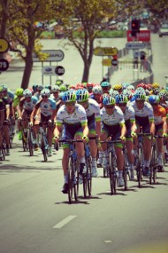 Orica GreenEDGE on the front