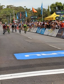 The big sprint finish