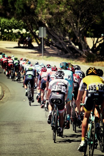 The peloton on stage 2