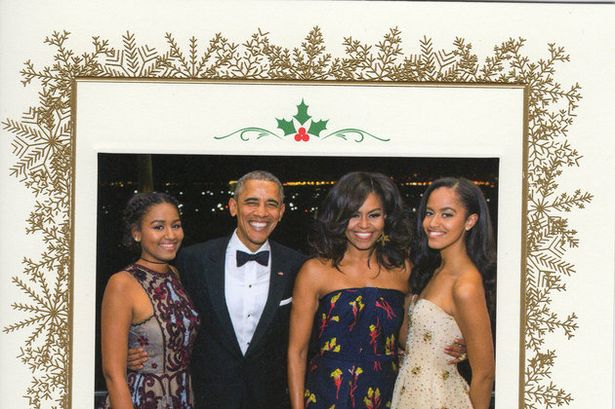 Obama Christmas Cards Over The Years Rolling Out
