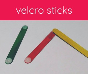 craft sticks with velcro
