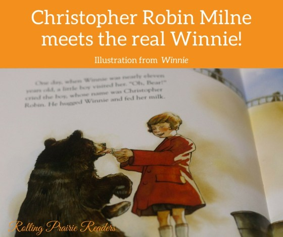 Christopher Robin meets Winnie the bear at the London Zoo.
