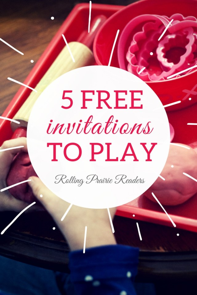5 FREE Invitations to Play (Valentine's Day) from Rolling Prairie Readers
