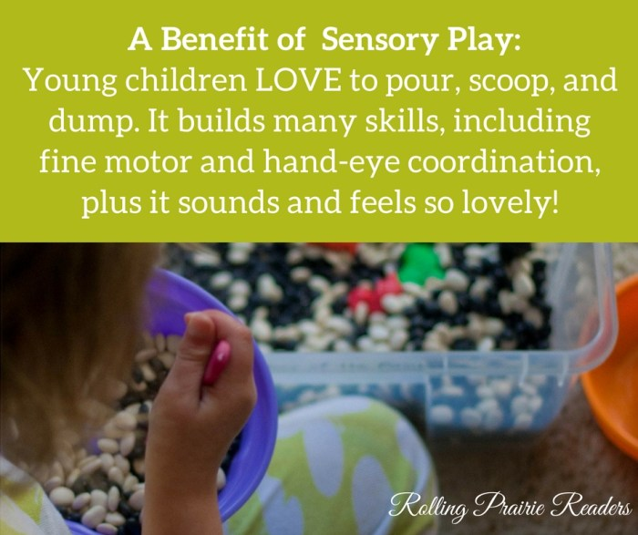 Sensory play has many benefits for children of all ages!