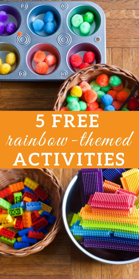 5 Free Invitations to Play: Rainbow | Rainbow Learning Activities, preschool sensory play, spring tactile activities, activities for kids, motor skills