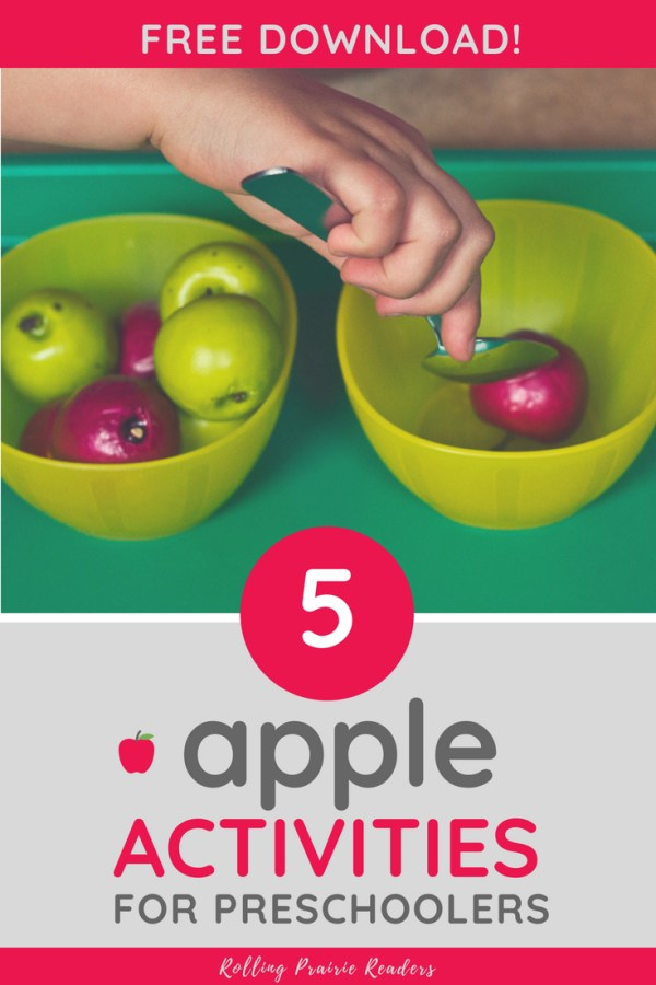 picture of a toddler moving apples from one bowl to another with a spoon