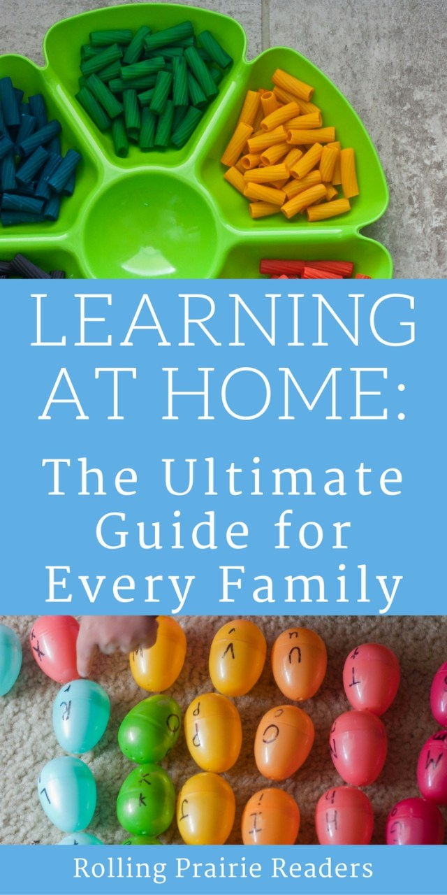 Download your FREE Ultimate Guide to Learning at Home from rollingprarirereaders.com | tot school, preschool at home