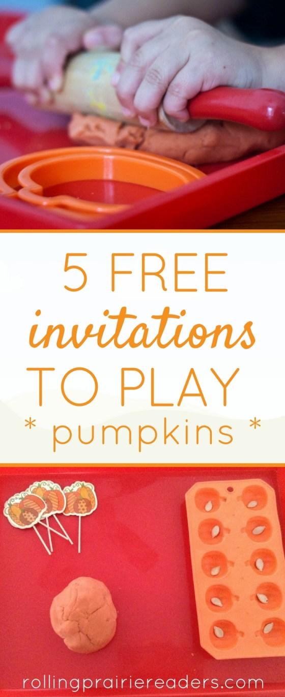 Five FREE Pumpkin-Themed Kids Activities (Toddlers and Preschoolers) | tot school, preschool at home, learning at home, tactile activities, wahm kids