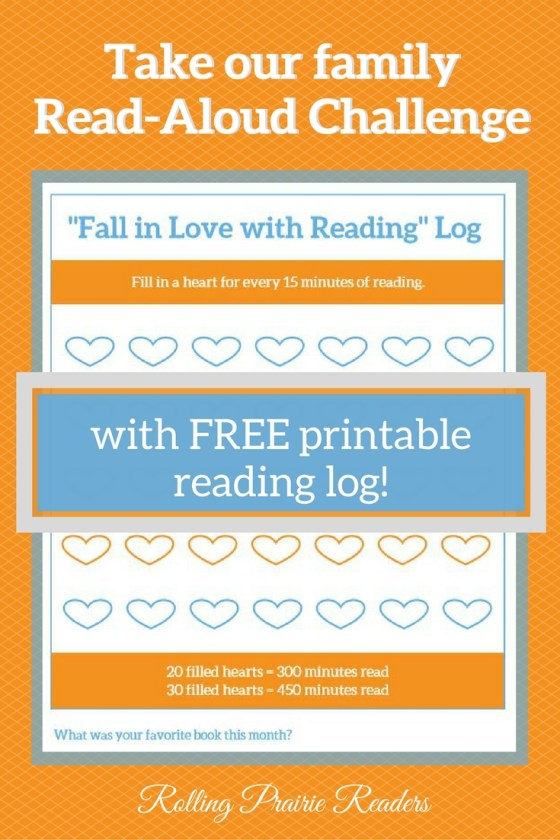 Fall in Love with Reading Challenge from Rolling Prairie Readers | free reading log printable