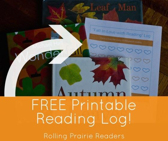 Grab our free printable reading log at rollingprairiereaders.com!