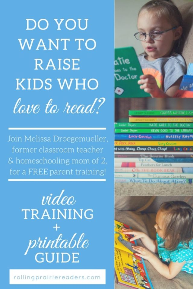 Prepare Your Child to Be a Reader | FREE parent training from Rolling Prairie Readers | raising readers, teach kids to read, reading at home, reading activities