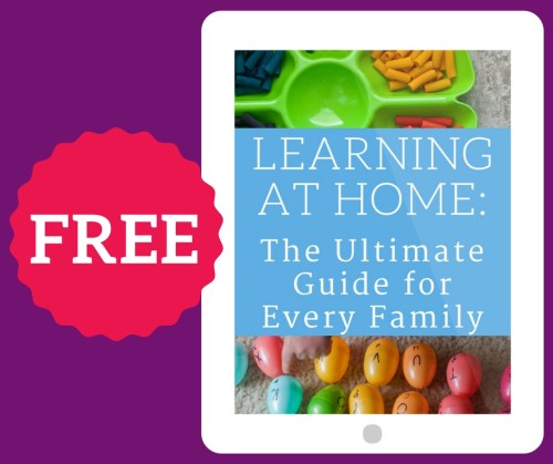 Grab your FREE Ultimate Guide to Learning at Home from Melissa Droegemueller of Rolling Prairie Readers