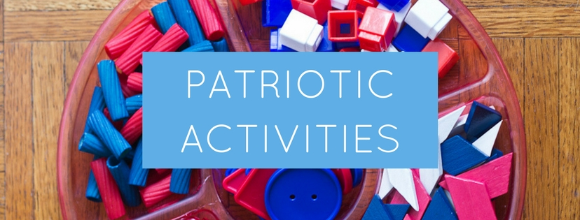 Patriotic Activities for Kids | Celebrate Memorial Day and Independence day with these patriotic songs and resources, fireworks crafts, patriotic sensory bin, and more!