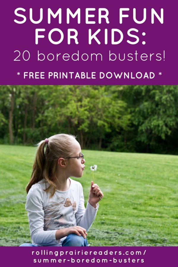 Summer Fun for Kids at Home: 20 Boredom Busters! Grab our FREE printable download with cheap indoor and outdoor activity ideas.