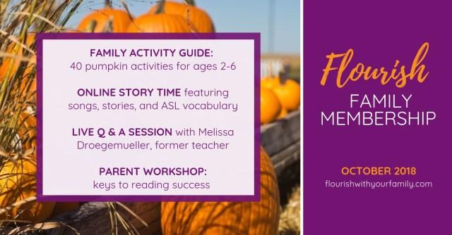 Flourish Family Membership: October 2018