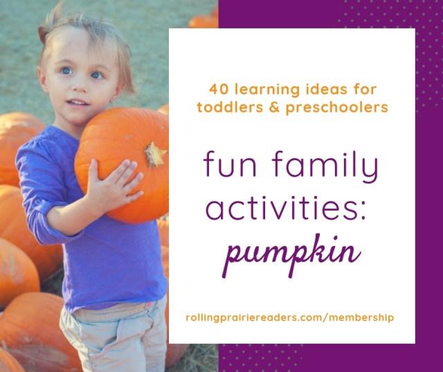 fun family activities: pumpkin