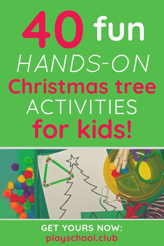 40 Hands-On Christmas Tree Activities for Kids