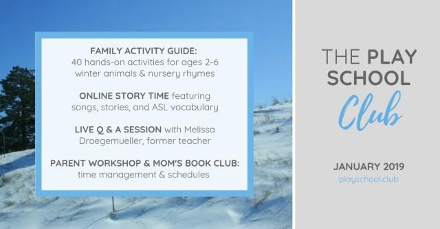 January Play School Agenda