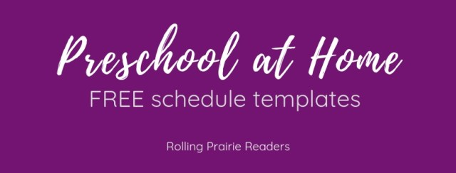 preschool at home | free schedule templates