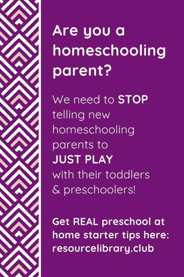 "There's more to homeschool preschool than ""just playing."" Get your questions answered from a former classroom teacher."