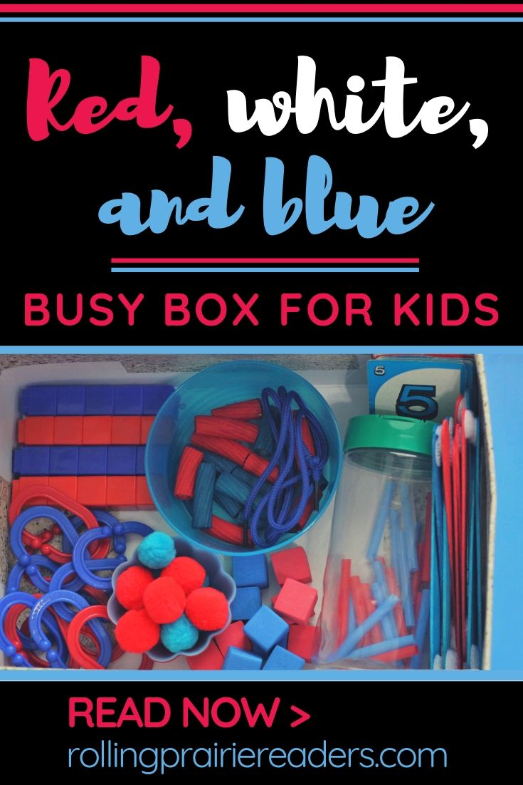 Red, White, and Blue Busy Box for Kids