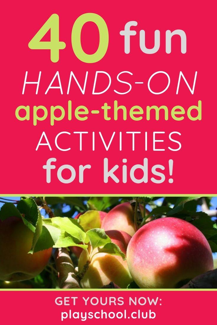 40 fun hands-on apple activities for kids
