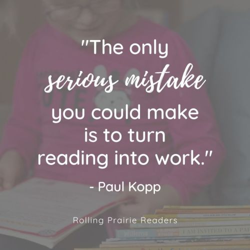 Paul Kopp quote about raising readers
