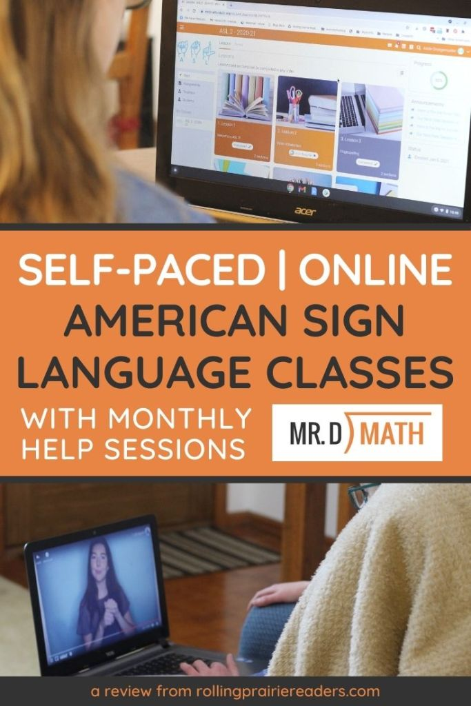Self-Paced Online ASL Classes from Mr. D Math