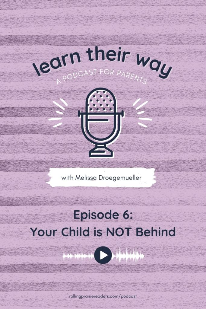 Learn Their Way Podcast, Episode 6: Your Child is NOT Behind