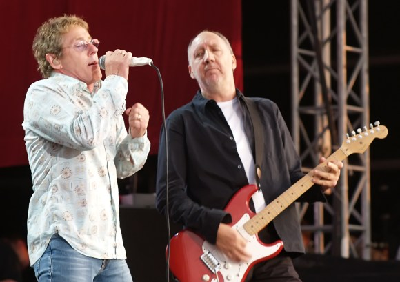 Roger Daltrey and Pete Townshend of The Who. Photo by (AP Photo/ Max Nash, File)