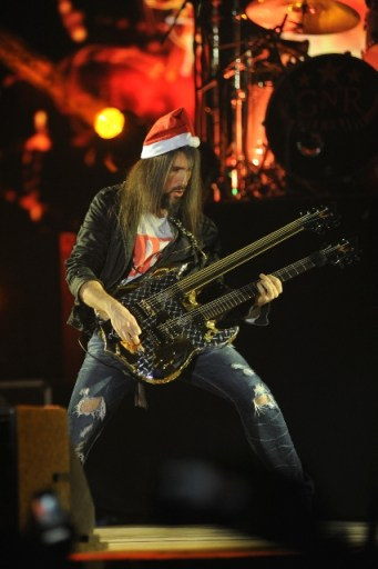 "Ron ""Bumblefoot"" Thal at Guns N' Roses show in Mumbai. Photo: Bobin James"