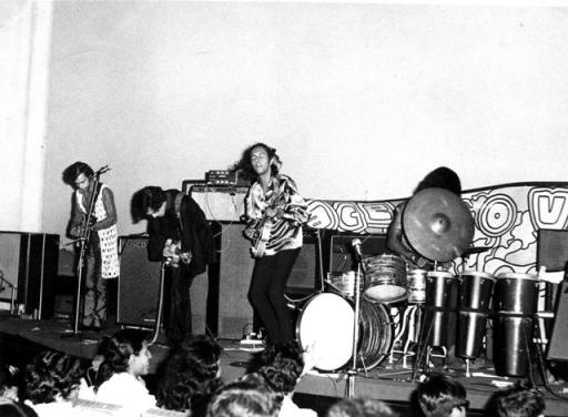 The Combustibles performing at the Polydor Woodstock Festival at Eros Theater in 1971. Photo: Nissim Ezekiel