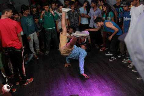 B-Boys competing at the B-boy and B-girl Championship in Mumbai In April. Photo: Sushant Sawant