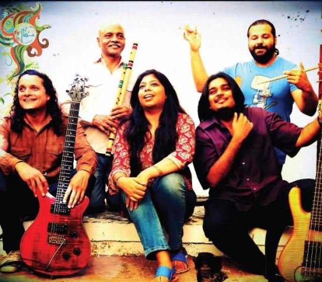 ALL FOR ONE: (from left) Mekaal Hasan, Papu, Sharmistha Chatterjee, Sheldon D'Silva, Gino Banks