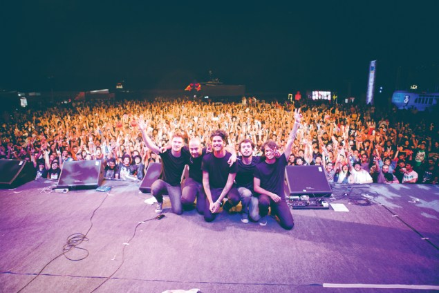 Skyharbor with Dan Tompkins (far left) during their India tour last year | Photo Courtesy: Parizad D