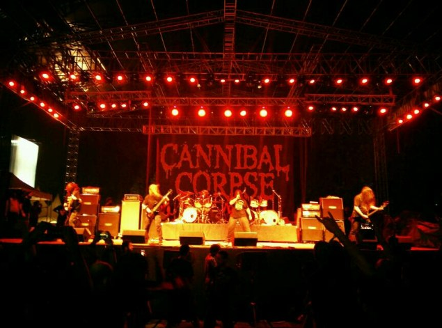 Cannibal Corpse at CultFest 2015 in Bengaluru. Photo : Ashwin Sharma