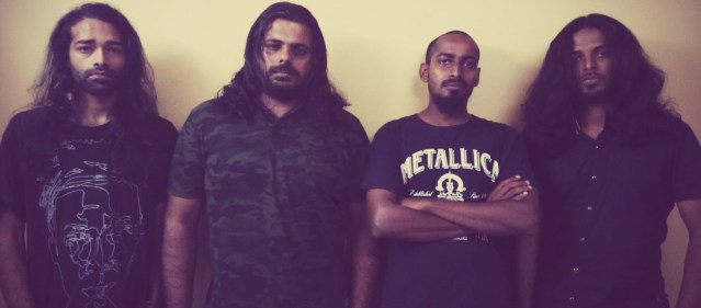 [L-R] Vishnu Rajendranath, S Jayakrishnan, Nikhil NR and Manu Krishnan of Chaos. Photo courtesy of the band.