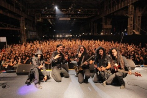 Mumbai extreme metal veterans celebrated the 10th anniversary of their 2005 release 'A Darkness Descends.' Photo by Fahama Sawant.
