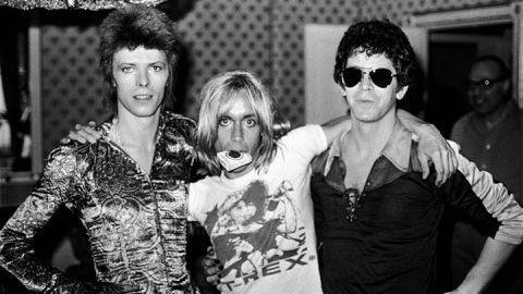 Bowie, Iggy Pop and Lou Reed at the Dorchester Hotel in London on July 16th, 1972.
