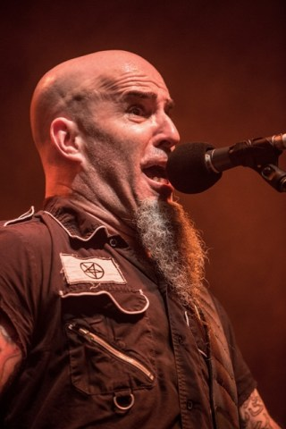 Anthrax frontman Scott Ian at Hollywood Palladium on February 12, 2016 in Los Angeles, California. Photo by Harmony Gerber/ Getty Images.
