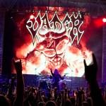 Polish death metal band Vader live at Bangalore Open Air 2016. Photo: Shashwath SP