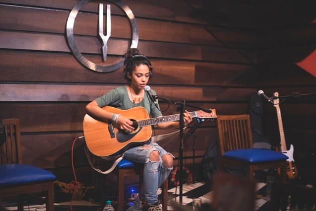 Aarifah Rebello performing at Tuning Fork. Photo: Courtesy of Glowworm Studios.