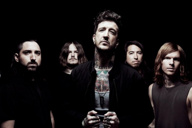 Of Mice & Men. (From left) Valentino Arteaga, Aaron Pauley, Austin Carlile, Phil Manansala and Alan Ashby. Photo: Tom Barnes
