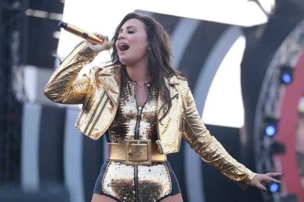 Demi Lovato put on a good set despite suffering audio issues. Photo: Courtesy of Global Citizen India