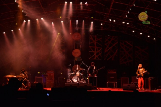 New Delhi rock band Menwhopause at the Orange Festival of Music and Adventure, Arunachal Pradesh. Photo: Nabam Tadi