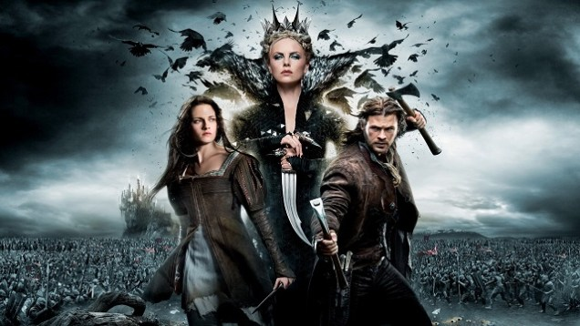 This is a poster for 'Snow White and the Huntsman'