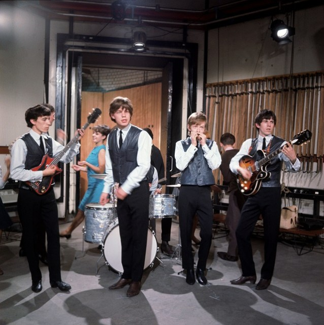 Rolling Stones at their first TV appearance on Ready Steady Go on 2 August 1963 performing Come On. Photo Tony Gale